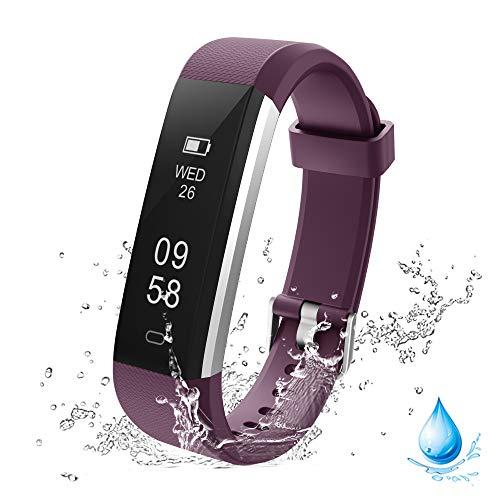 Lintelek Fitness Armband Schrittzähler, Wasserdicht Fitness Trackers