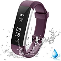 Lintelek Activity Tracker, Fitness Trackers Pedometer Smart Watch, Fitness Watch Sports Bracelet with Activity Recording and Calorie Counter, Sedentary Reminder for Men, Women and Kids