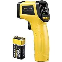 URCERI Termómetro Infrarrojo Digital Láser IR, alta precisión ±0.1°C, rango -50℃~580℃(-58 ℉ a 1076 ℉) pistola de temperatura con pantalla a color