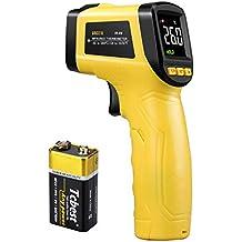URCERI Termómetro Infrarrojo Digital Láser IR, alta precisión ±0.1°C, rango -