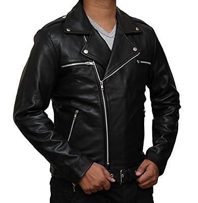 Negan Leather Jacket - Black Walking Dead Jacket Replica