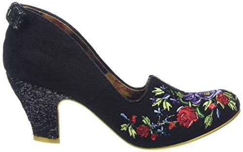 Irregular Choice Damen Bloom Beauty Pumps Schwarz (Schwarz)