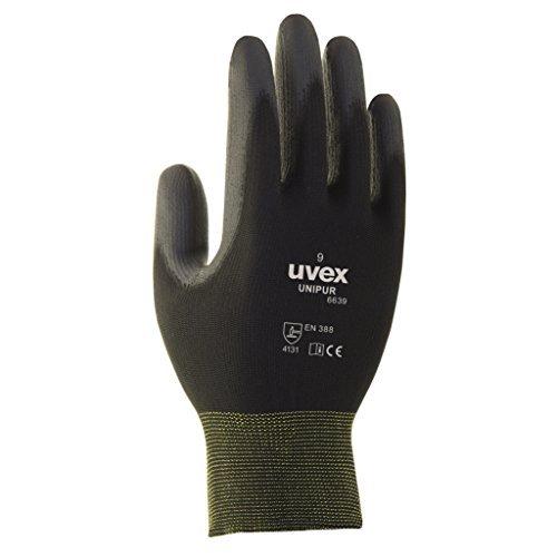 10 Paar uvex Unipur 6639 Arbeitshandschuhe mit PU Beschichtung - Schutzhandschuhe gegen mechanische Risiken EN 388 L (9)