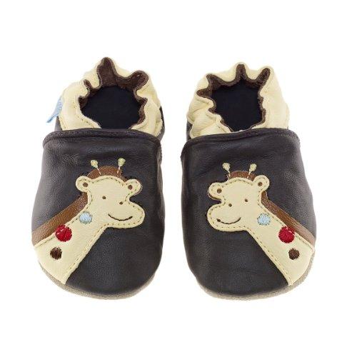 Jack & Lily Giraffe 1303/1304 Unisex Kinder Krabbelschuhe/Hausschuhe Braun (Chocolate)