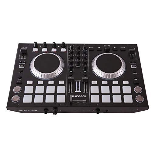 Houozon DJ 4-Kanal-MIDI-Controller, CD-Audio-Mischpult, Mixer, professionelles elektronisches Musikgerät mit Pads, geeignet für die Partybühne eines Nachtclubs.