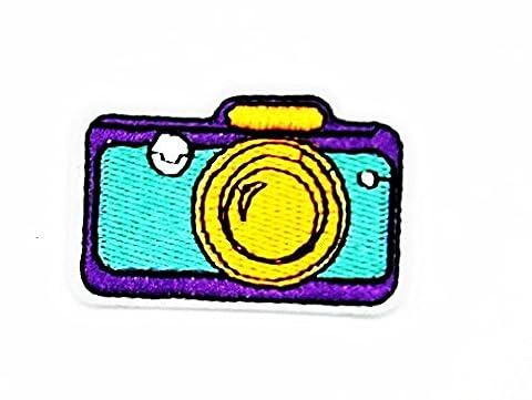 rabana Kamera Rainforest Fransen Cartoon Kids Kinder Cute Animal Patch für Heimwerker-Applikation Eisen auf Patch T Shirt Patch Sew Iron on gesticktes Badge Schild (Retro Roboter-kostüm)