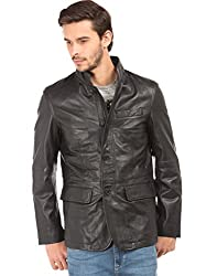US Polo Mens Leather Jacket (8907378417282_USJK1535_Small_Black)