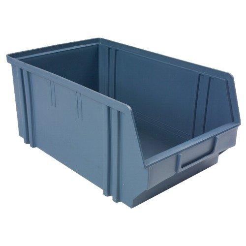 Lager-Sichtbox Schubladenboxen Schütten Gr. 4, 335x205x149 mm, Farbe: avio