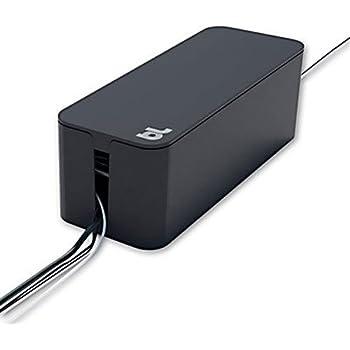 bluelounge cablebox mini noire boite rangement cables high tech. Black Bedroom Furniture Sets. Home Design Ideas
