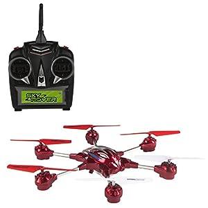 Sky Rover - Hexa 6.0 con cámara, hexadron teledirigido 4 canales, color rojo (ColorBaby 85069)