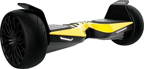 Hoverboard corse automobili lamborghini con connessione bluetooth, ruote 8.5'', giallo
