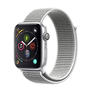 Apple Watch Series 4 (GPS) con caja de 44 mm de aluminio en plata y correa Loop deportiva en color nácar