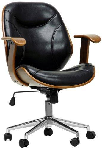 Baxton Studio Rathburn Modern Office Chair, Walnut/Black by Baxton Studio
