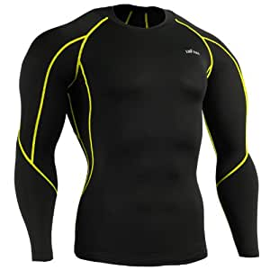 emFraa Homme Femme Sport Compression Black Base layer Tee-Shirt Longsleeve S