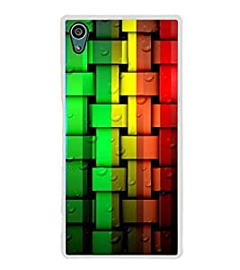 Multi Colour Weave Pattern 2D Hard Polycarbonate Designer Back Case Cover for Sony Xperia Z5 :: Sony Xperia Z5 Dual