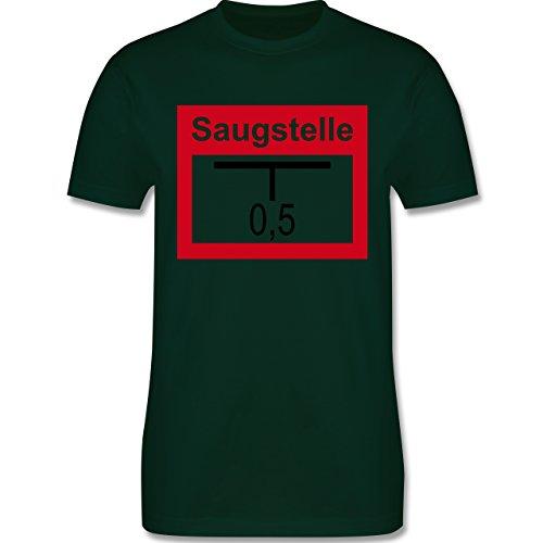 Feuerwehr - Saugstelle - Herren Premium T-Shirt Dunkelgrün