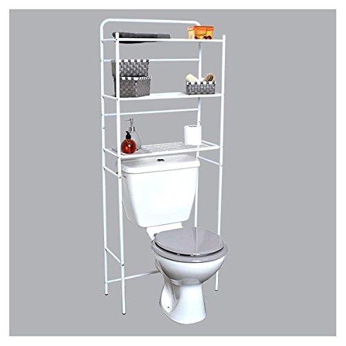 EVIDECO-Estantería de Metal 3cajones de Placer AU Dessus Des WC Blanco