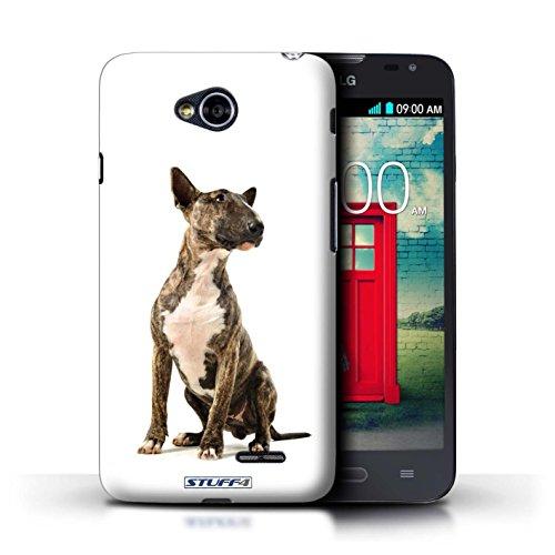 Kobalt® Imprimé Etui / Coque pour LG L70/D320 / Husky/Esquimau conception / Série Chiens Bull Terrier