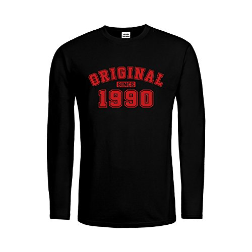 dress-puntos Herren Langarm T-Shirt Original Since 1990 20drpt15-mtls01287-18 -