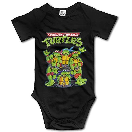Teenage Mutant Ninja Turtles Unisex Short Sleeve Bodysuit Set for Baby 0-3 Months