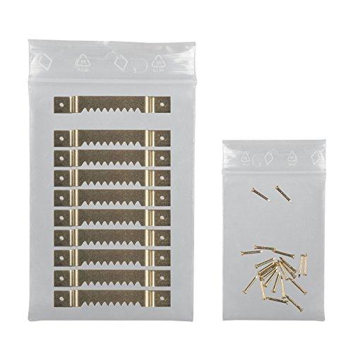 Leha® Bildaufhänger, 10 Stück mit Nägeln, Zackenaufhänger für Keilrahmen, Aufhänger für...