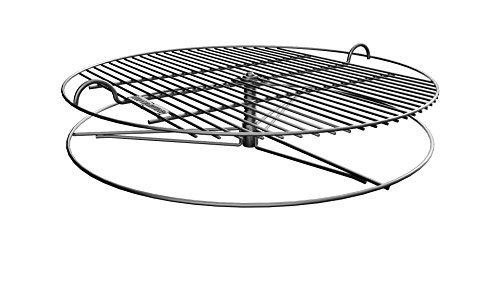 """GrillUp rejilla de parrilla para barbacoa con altura ajustable   100% de acero inoxidable para Weber y otras parrillas de carbón de 57cm (22"""")"""