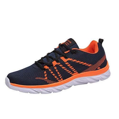 Fenverk Herren Damen Sneaker Straßenlaufschuhe Sportschuhe Turnschuhe Outdoor Leichtgewichts Laufschuhe Freizeit Atmungsaktive Fitness Schuhe EU39-47(Blau,45 EU)