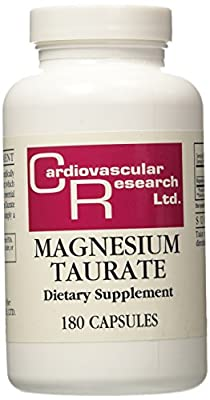 Cardiovascular Research Ltd., Magnesium Taurate, 180 Capsules from Cardiovascular Research