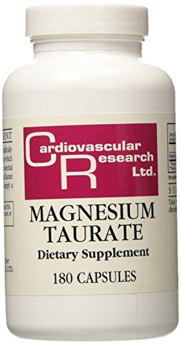 Magnésium taurate, 180 Capsules - Cardiovascular Research Ltd.