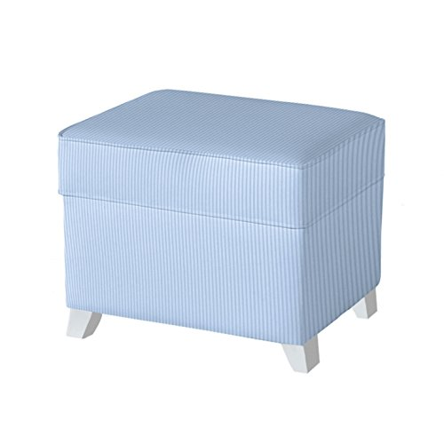 Micuna Puff - Arcón con tapizado tela, diseño rayas, color azul