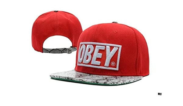 3a13f456021ac Obey Snapback hat All colours Available (Red Snake)  Amazon.co.uk  Sports    Outdoors