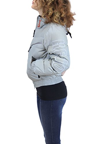 Kejo Ninja Vintage L.E. Women Goose Down Jacket Light Grey and Black Grigio