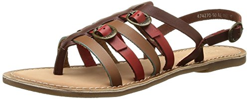 KickersDixmille - Sandali Donna , Multicolore (Multicolore (Marron/Rouge/Camel)), 39