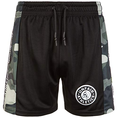 Unfair Athletics Black Camo Short Herren schwarz/dunkelgrün, L (Herren Shorts Athletic)