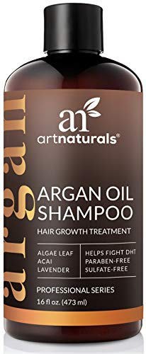 ArtNaturals Argan-Oil Shampoo for Hair-Regrowth - (16 Fl Oz / 473ml) - Sulfate Free - Treatment for Hair Loss, Thinning & Regrowth - Growth Product For Men & Women - Infused with Biotin