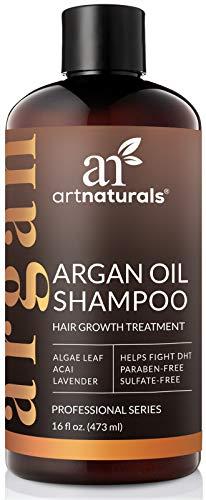 ArtNaturals Arganöl Shampoo Haarwuchs Anregend - (12 Fl Oz/354ml) - Hairgrowth Treatment - Volumen Shampoo für Haarwachstum, Haarausfall, Dünnes und Schütteres Haar - mit Aloe Vera - Sulfat-Frei