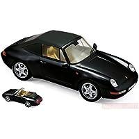 NOREV NV187595 Porsche 911 Carrera CABRIOLET 1994 Black 1:18 MODELLINO Die Cast