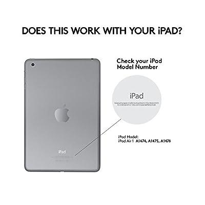 Logitech Type+ pour iPad Air 1 - mince et léger de protection Folio Case avec Français AZERTY Bluetooth intégré clavier - Pouvoirs jusqu'à 3 mois à partir d'une seule charge! - en mars ROUGE