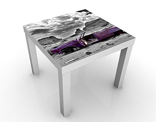 Tavolino design Pink Cadillac 55x55x45cm, Tischfarbe:weiss;Größe:55 x 55 x 45cm