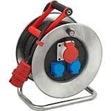 Brennenstuhl Kabeltrommel Garant S CEE 1 IP44 3-fach 25m H07RN-F 5G2,5 Kabelfarbe schwarz