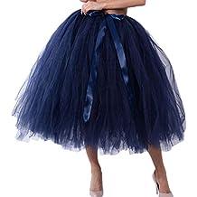 187f0042db Amazon.es  falda tul negra - Azul