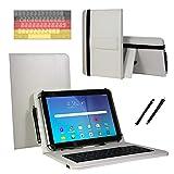 Tastatur QWERTZ Hülle für Jay-tech TXE10DW2 Tablet PC Etui Schutzhülle mit Touch Pen - Tastatur 10.1 Zoll Weiß