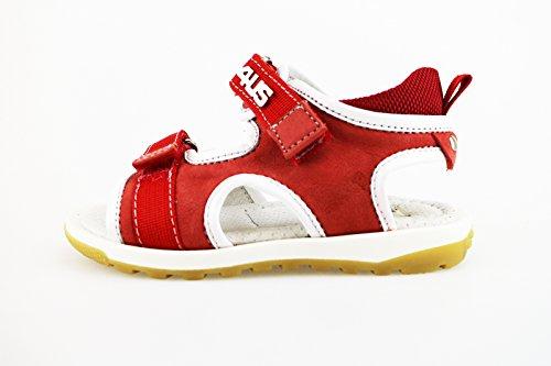 CESARE PACIOTTI 4 US sandali bambino 23 EU rosso tessuto pelle AH953