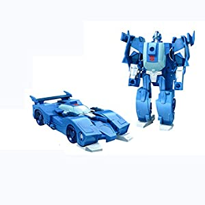Hasbro Transformers Cyberverse agresores acción: 1-Step Cambiar BLURR Action Figure Transformers - Robots in Disguise - Combiner Force - Strongarm/Optimus Prime BLU
