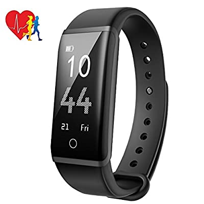 Mpow Fitness Tracker, Heart Rate Monitor Smart Bracelet Activity Tracker Bluetooth Pedometer with Sleep Monitor Smartwatch for iPhone Samsung and Other Android or iOS Smartphones from Mpow