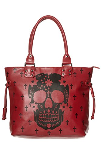 banned-skull-faux-leather-womens-handbag-rockabilly-horror-gothic-cross-pattern-red