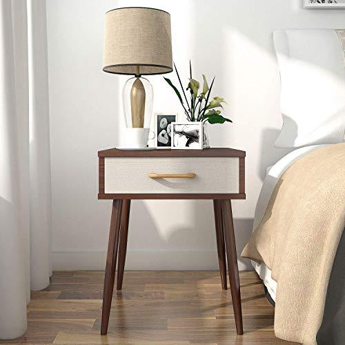Lifewit Mesitas de noche de Dormitorio Mesa auxiliar Mesa de Sala de estar Gabinete con 1 cajón