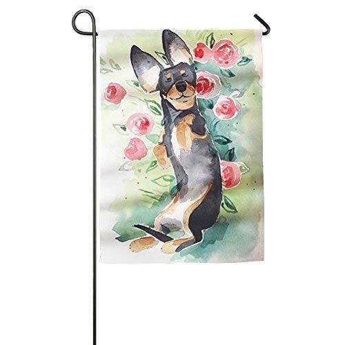 Meishikaeu Sweet Home Gartenfahne, dekorativ, bunt, Frühjahr/Sommer, Polyester, Stil 9, 12x18(IN) - Socke-tier-mustern