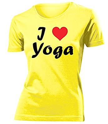 I LOVE Yoga T-Shirt Damen S-XXL