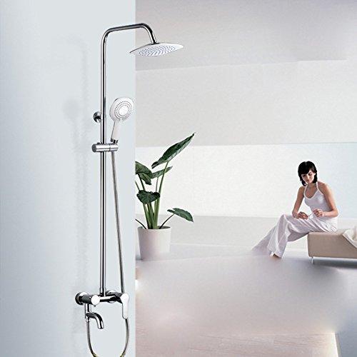 ZHGI Kit doccia bagno in ottone completo set doccia